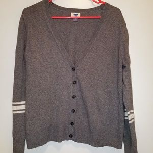 Old Navy Button-Down Gray Cardigan Sweater XL